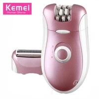 Original Kemei KM 2068 2 In 1 Electric Rechargeable Woman Epilator Beard Shaver Epilator For Body
