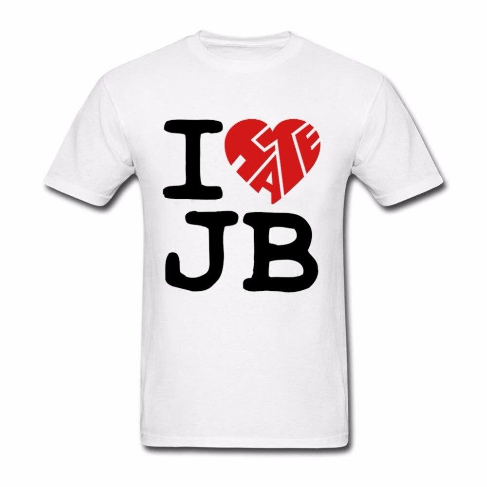 Shirt design price - Low Price Men I Hate Jb T Shirts Designer Cotton Comfortable T Shirt Men O