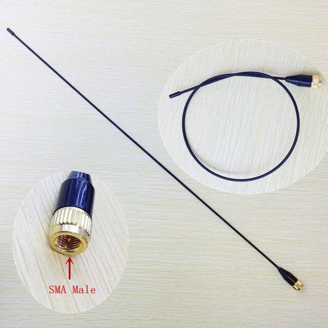 Delgados y suaves SMA-24 UV Antena de Doble Banda 144/430 MHz SMA Macho para Yaesu, vertex Standard, Tonfa, Linton, px2r, pxa6 walkie talkie