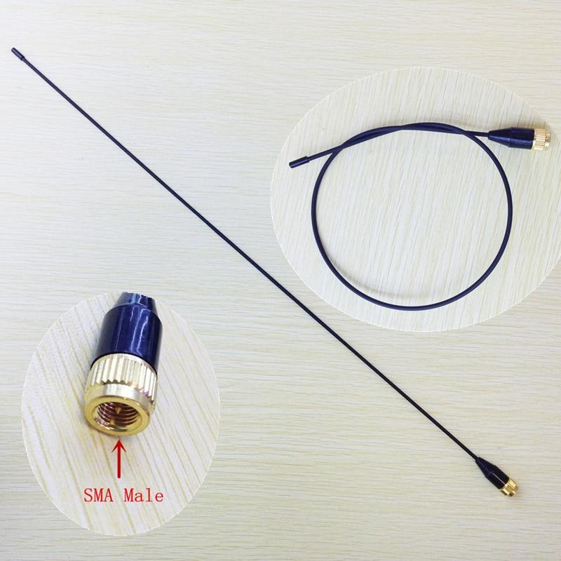 Slim And Soft  SMA-24 UV Dual Band Antenna 144/430MHz  SMA Male For Yaesu, Vertex Standard, Tonfa,Linton,px2r,pxa6 Walkie Talkie