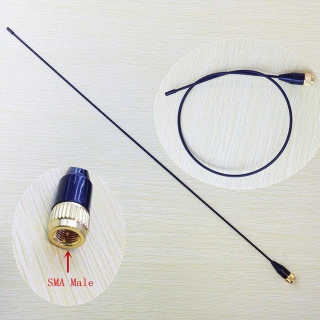 Slim and soft  SMA-24 UV Dual Band Antenna 144/430MHz  SMA Male for Yaesu, Vertex Standard, Tonfa,Linton,px2r,pxa6 walkie talkie