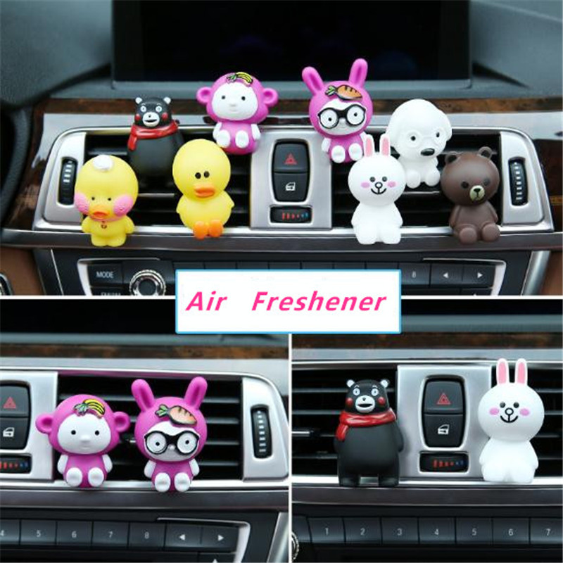Car Perfume Clip Bear Chicken Air Vent Freshener Fragrance Auto Interior Outlet Decoration Trim Accessory Diffuser Creative Gift Without Return Ornaments