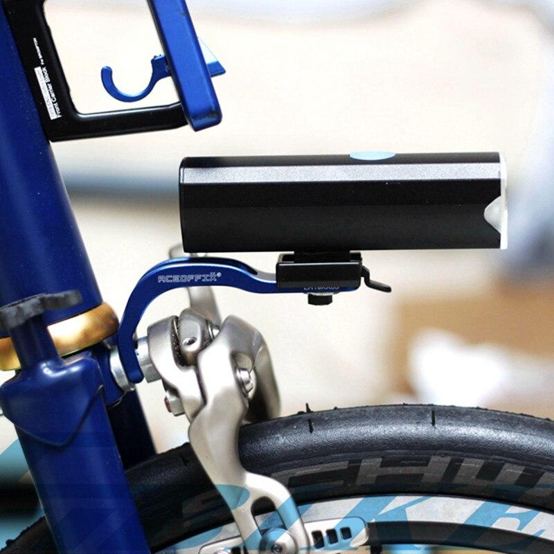 Feux avant et supports de vélo pliants pour lampes de vélo brompton