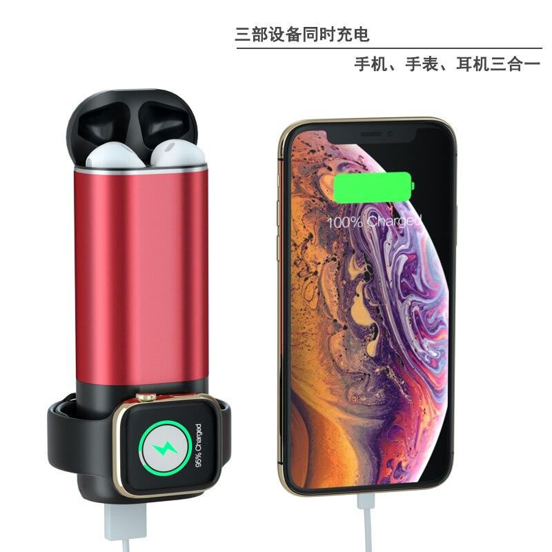 Youbina portable 3 en 1 chargeur sans fil dock de charge rapide pour Apple watch 4 3 2 1 iPhone 8 x xr xs max Airpods