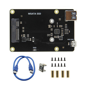 Image 2 - X850 V3.0 mSATA SSD GPIO Micro USB плата запоминающего устройства + чехол для Raspberry Pi 3 Модель B +