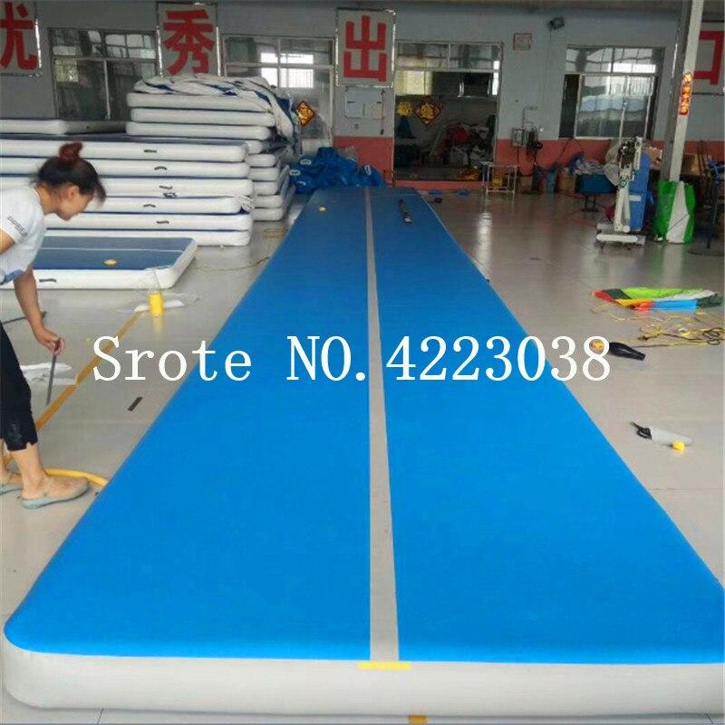 Livraison gratuite piste d'air 8 m, tapis de culbuteur, tapis gonflable de gymnastique Airtrack, tapis de sol d'air avec pompe à Air électrique pour l'entraînement