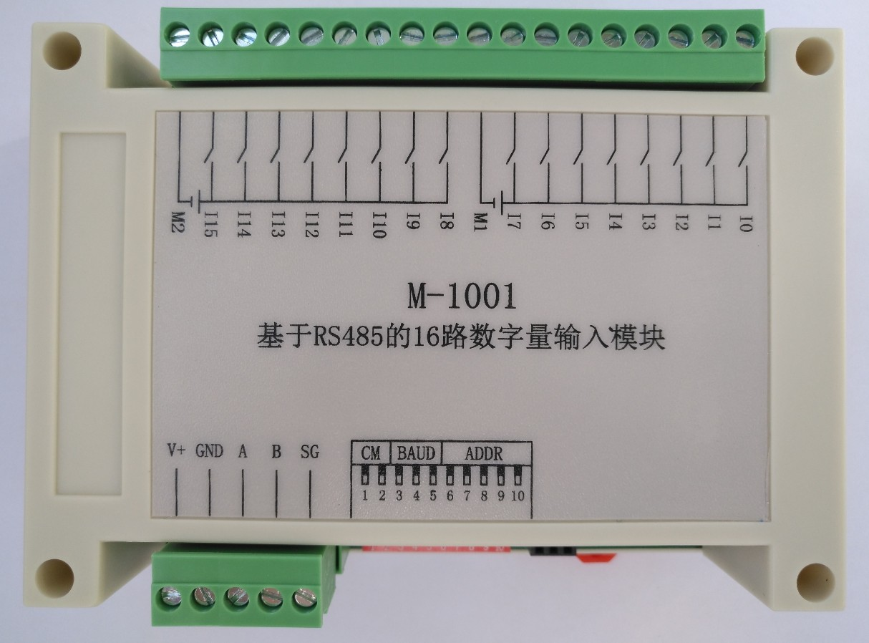 16 позиционный модуль сбора переключателя Modbus RTU цифровой сигнал изоляция вход RS485 коммуникационная IO Плата