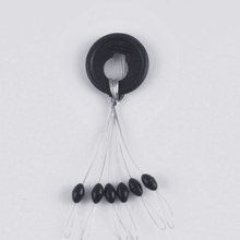10 Pcs 1 Size L Black Rubber Oval Stopper Fishing Bobber Float Space bean Stopper Folat Line Stoppers Bobber Stops FF004