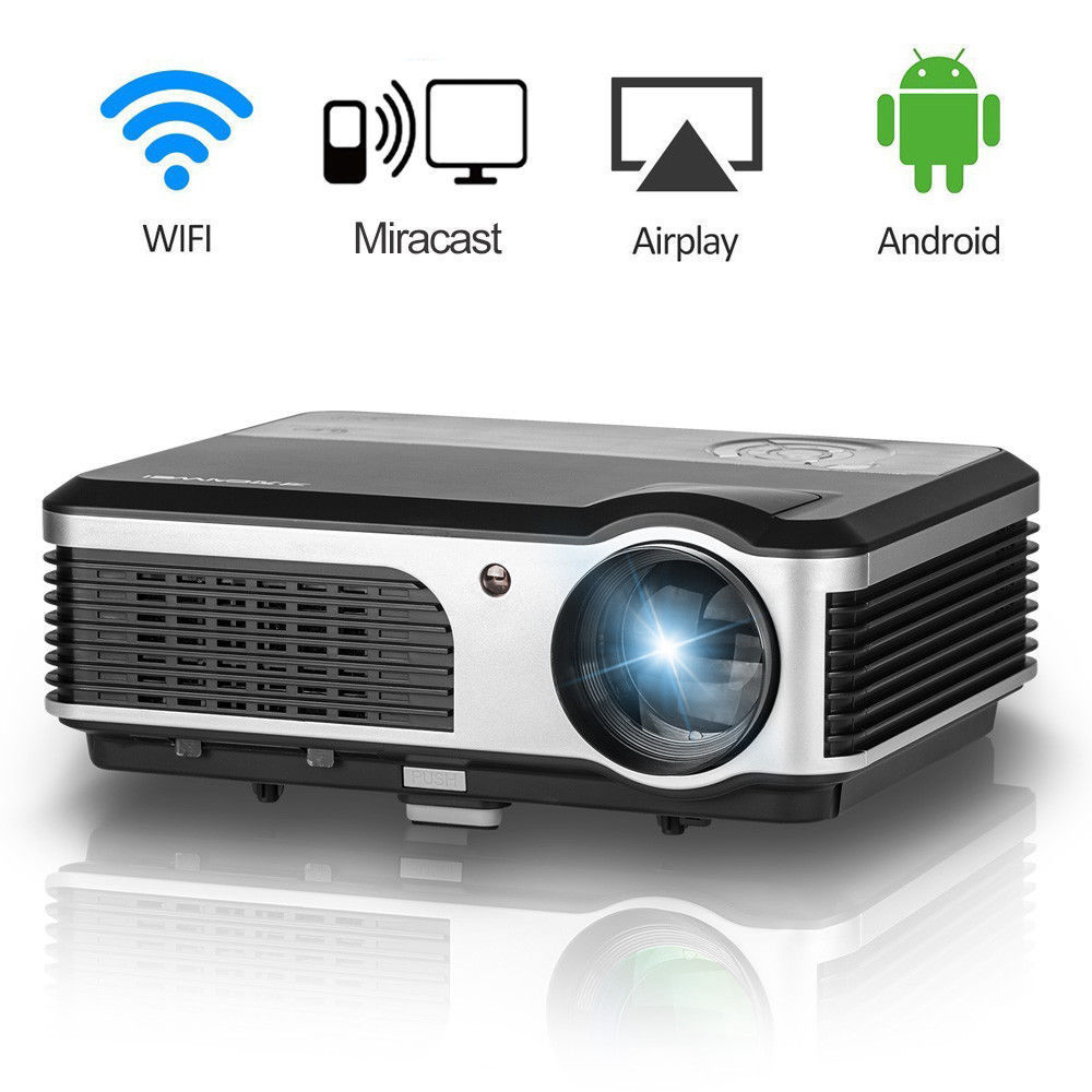 цена на CAIWEI Bluetooth Wireless WIFI LCD LED Projector Home Theater Cinema Support Full HD 1080P TV PC Video Projection Beamer