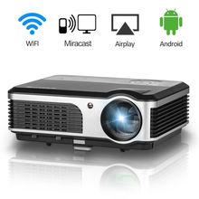 Caiwei Беспроводной WI-FI ЖК-дисплей кино светодиодный проектор дома Театр Кино Поддержка Full HD 1080 P ТВ PC проекции видео проектор