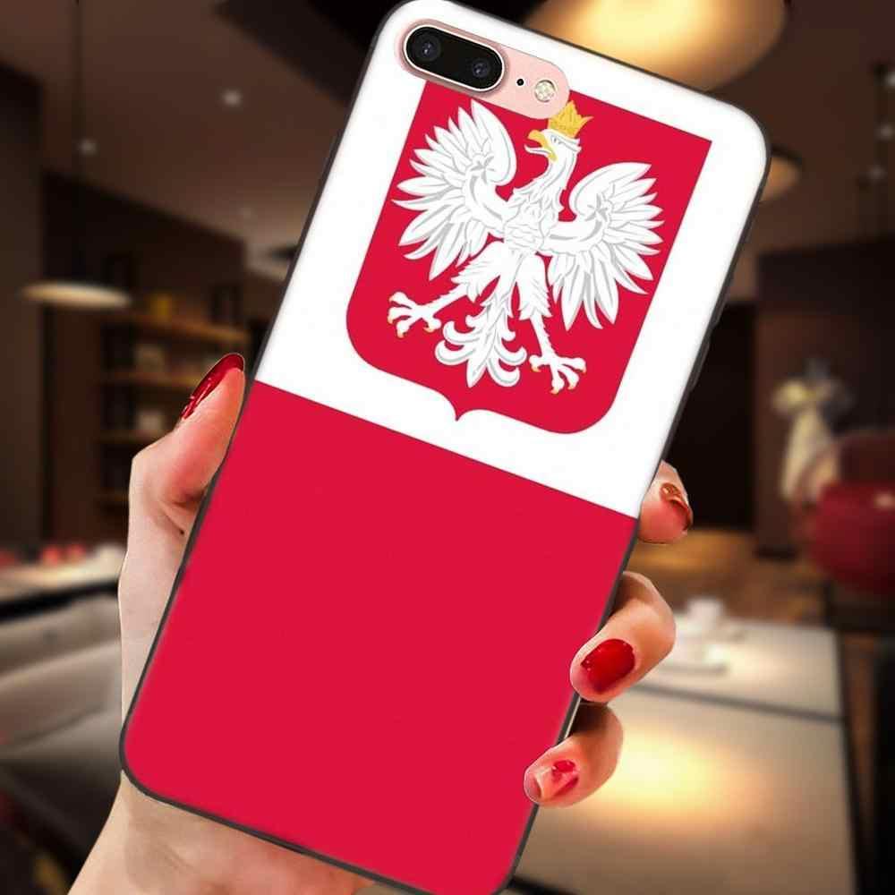Macio Caso de Telefone de Moda Para Xiaomi Redmi Nota 2 3 4 4A 4X5 5A 6 6A Plus Pro s2 Y2 Polónia Polska Bandeira