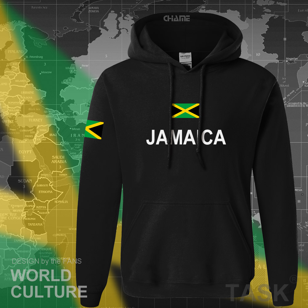 Jamaica Hoodie Men Sweatshirt Sweat New Hip Hop Streetwear Tracksuit Nation Footballer Sporting Country New Flag JAM Jamaican