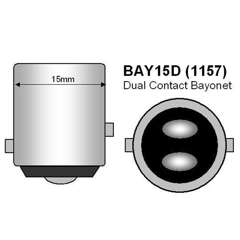 חלקי חילוף bauknecht ASLENT 1157 P21 / 5W BAY15D סופר ברייט 33 SMD 5630 5730 בלם אוטומטי LED אורות בשעות היום מכונית ערפל המנורה פועל להפסיק נורות 12V (2)