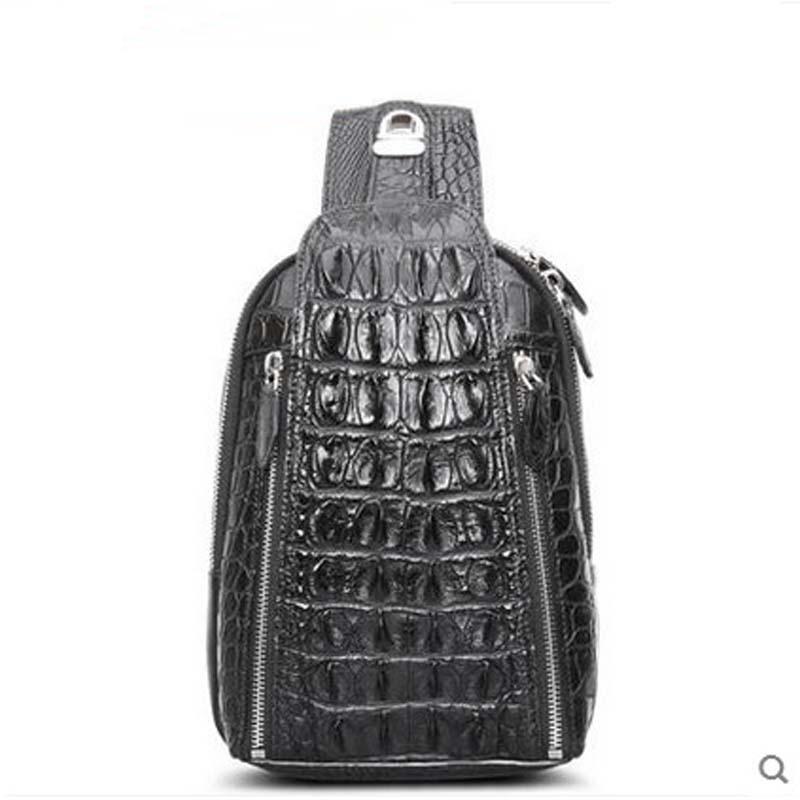 Cestbeau Thai crocodile men breast package leisure slanting shoulder bag single shoulder bag man bag man chest bag
