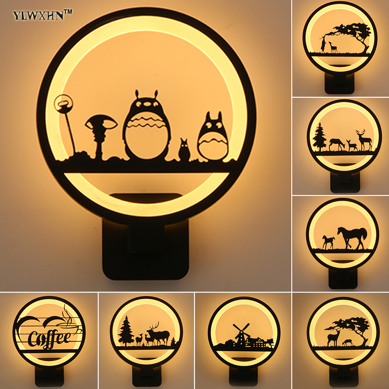 2018 Top Fashion Hot Sale Wall Light Luminaire Led Wall Lamp 12w Acrylic For Living Room Next To Luminarias Glitter Home Dero hot sale fashion hot sale coconut palm iron wall hanging basket