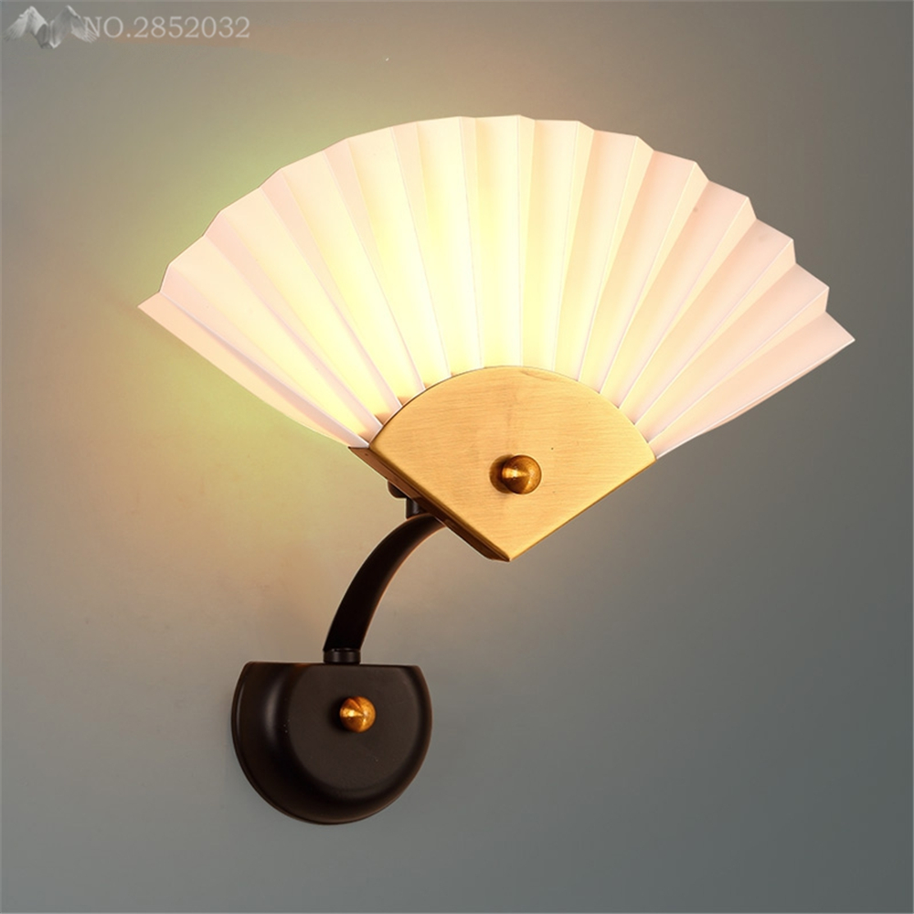 Post modern simplified fan shape Wall lamps lights bathroom bedroom ...