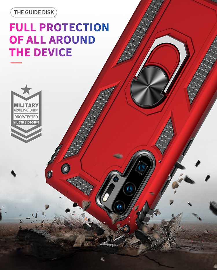 Shockproof Armor Kickstand Case For Huawei P30 Pro P20 Lite Nove 5 4e P Smart Z Y6 Y7 Y9 Prime Pro 2019 Metal Ring Holder Cover