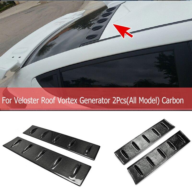 For Hyundai Veloster Carbon Fiber Roof VTX Generator 2Pcs(All Model)rRear Window Spoiler Car Part For Veloster Tuning