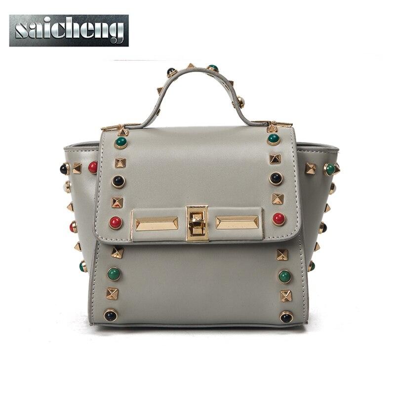 2017 Famous Brand Bag Women Designer Trapeze Pu Leather Handbag High Quality Messenger Bag Female Crossbody
