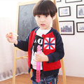 Free shipping children clothing spring/autumn 100%cotton boy outerwear  boy casual zipper sweater boy jacket