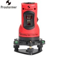 PROSTORMER 2 Lines Self Leveling Laser Cross Level Vertical Horizontal 360 Rotary Line Leveling 2 Red