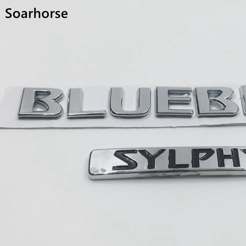 Chrome ABS Decal For Nissan Bluebird Sylphy Logo Emblem Car Rear Badge Nameplate Sticker emblem