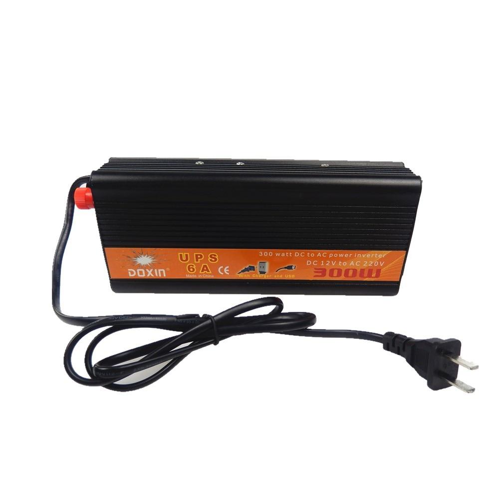 Convertisseur de tension 12 V à 220 V 24 V à 220 V 300 W onduleur utilisant UPS alimentation sans interruption 110 v onduleur hors réseau