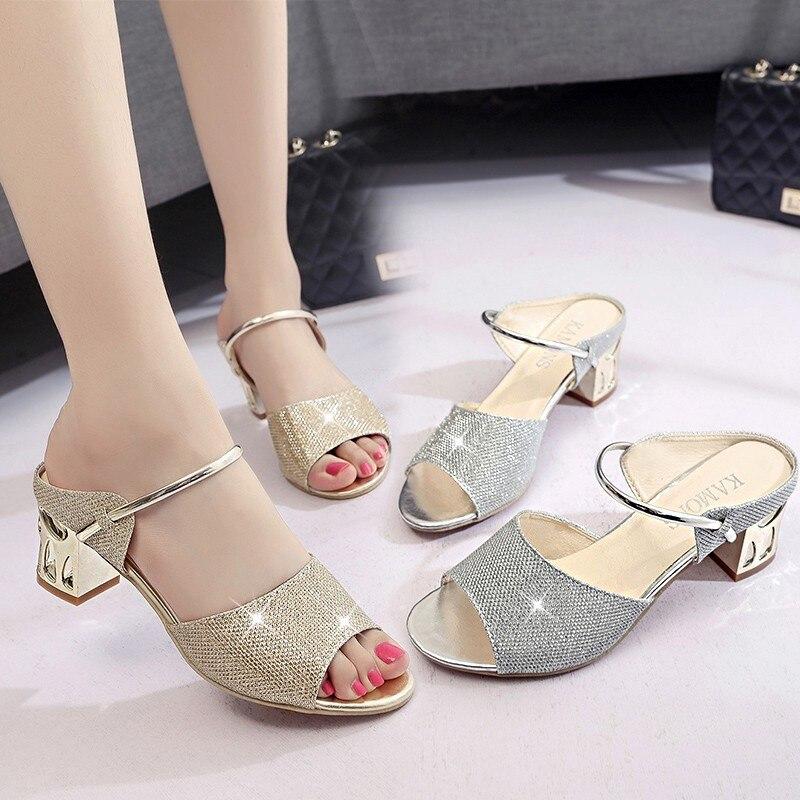 Peep Toe High Heels Womens Sandals New Fashion Diamond Woman Sandals Transparent Heels Sandalen Dames Chaussures Femme Ete 2018 new 2018 fashion peep toe high heels