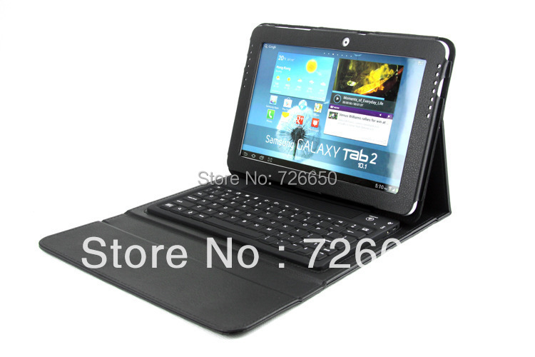 Promotion Removable Bluetooth Keyboard Case Stand For Samsung Galaxy Tab2 10.1 P5100 P5110 P5113 Keyboard Dock new detachable official removable original metal keyboard station stand case cover for samsung ativ smart pc 700t 700t1c xe700t