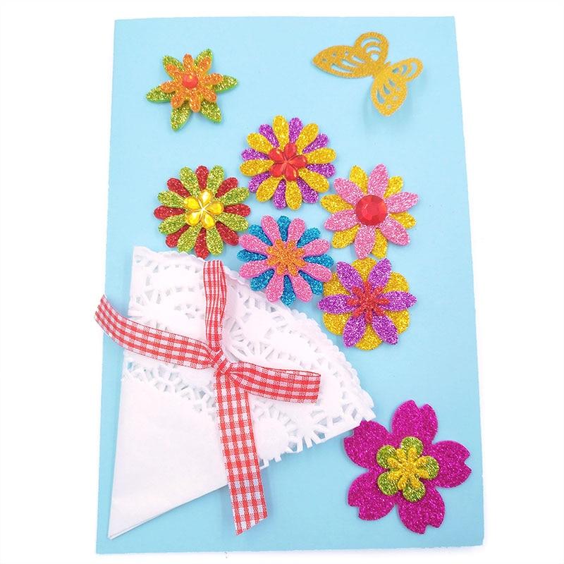 5 шт./лот 25 мм большие бумажные удары для скрапбукинга DIY бумажное ремесло в форме цветка Декор b22