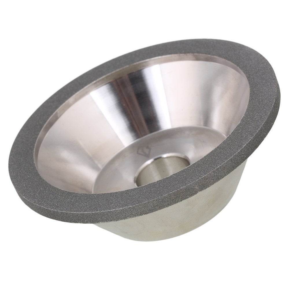 400# Grit 100x35x20mm Cup Bowl Shape Silver Electroplate Diamond Manganese Steel Grinder Grinding Wheel Cutter Cutting Tool