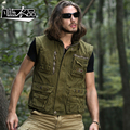 New casual Men's male Military army Work clothes vest Multi Pocket Vest photographer vest shoulder ridge free shipping