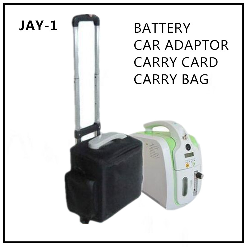 XGREEO Portable Oxygen Concentrator 5L/min carry bag+rechargeable battery+car inverter+pull cart oxygen tank