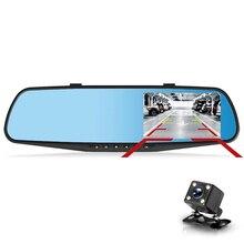 FHD 1080 P Ночное видение тире Камера Видеорегистраторы для автомобилей детектор Камера синий отзыв зеркало видеорегистратор Цифровой Регистраторы Авто видеокамеры регистраторы