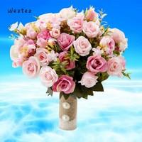 Bride Wedding Bouquet Rose Bouquet Bridesmaid Artificial Silk Flower DIY Wedding Accessories Romantic Holding flowers D678