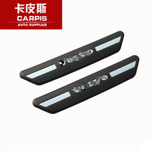 Car Welcome Pedal ABS Chrome Original Rear Door Sill Plate Door Sill Scuff Plate For 2014 2015 2016 VOLVO V40 Car Accessories