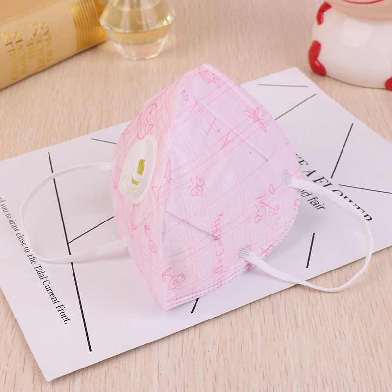 60pcs/Pack HS5 Non-woven Three-dimensional Protective Masks Folding Masks Cartoon Cute Dust PM2.5 Fashion Mask Wholesale