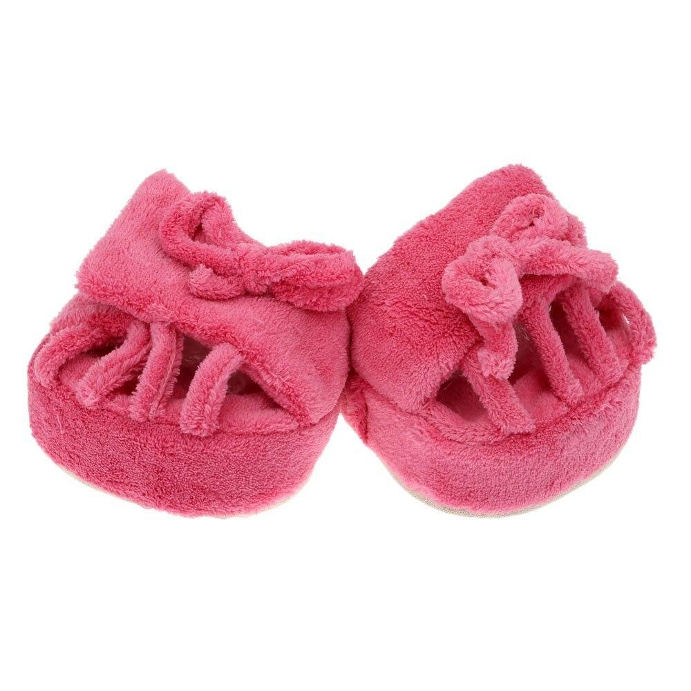 6127c29d3281 ABDB Cute Slimming Leg Slippers Coral Fleece Half Sole Shoes Indoor Pink