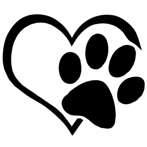 3 x lovely cat dog paw print reflective car decal sticker window rh aliexpress com  dog paw logo design