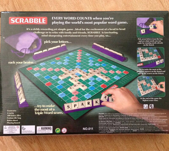 Scrabble Board Game English Crossword Spelling For Kids Russian Korean Instructions Indoor Games