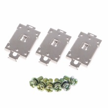 цена на 3 Pcs Single Phase SSR 35mm DIN Rail Fixed Solid State Relay Clip Clamp With 6 Mounting Screws Relays