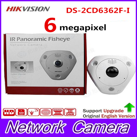 HIK NEW DS-2CD6362F-I Hik IP Camera 6MP POE Indoor 6MP Network Fisheye Camera H.264+/H.264/MJPEG Support microSD/SDHC hik hot ds 2cd6362f iv hik ip camera 6mp poe indoor 6mp network fisheye camera h 264 h 264 mjpeg support microsd sdhc