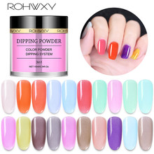 ROHWXY 10 ML Dip Powder Holographic Nail Glitter Powder 20 Colors Gradient French Nail Dipping System Without Lamp Cure Manicure(China)