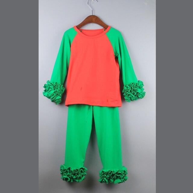 ruffes icing t-shirts christmas t-shirts top set fluffy ruffles tunic tee shirts swing dress t-shirts girl Christmas tshirt set