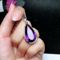 SHILOVEM 925 silver Piezoelectricity Amethyst citrine pendants send necklace classic wholesale Fine women gift yhz122501agjagz