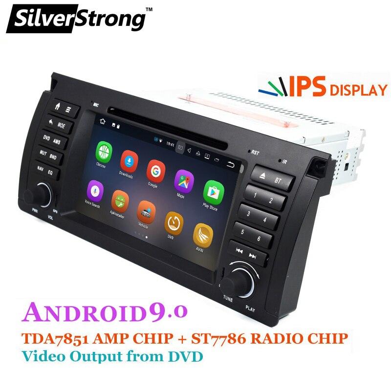 SilverStrong 1din Android9.0 DVD de voiture pour BMW E53 E39 X5 pièces de réglage pour M5 accessoires pour X5 E53 Navigation
