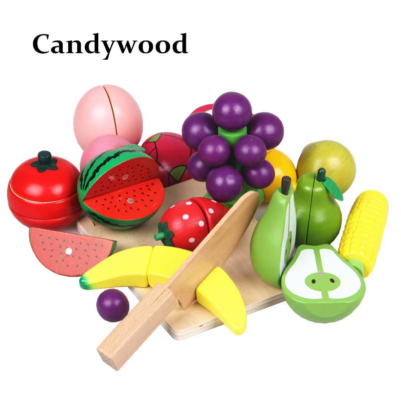 Kitchen Food Toys Fruit Fish Vegetable Blocks Children Lovely Wooden Toys Play House Toy For Baby 1000g 98% fish collagen powder high purity for functional food