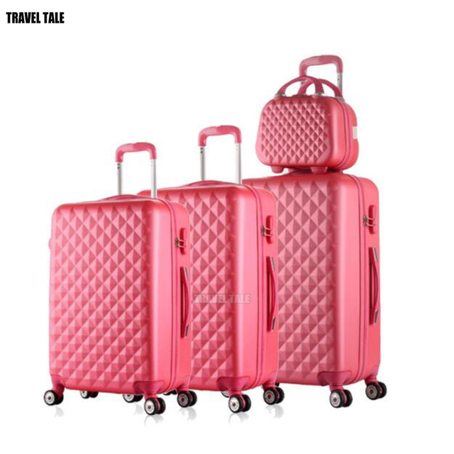 cb580f81d TRAVEL TALE spinner ABS travel suitcase set hardside trolley case luggage  sets 3pcs free shipping