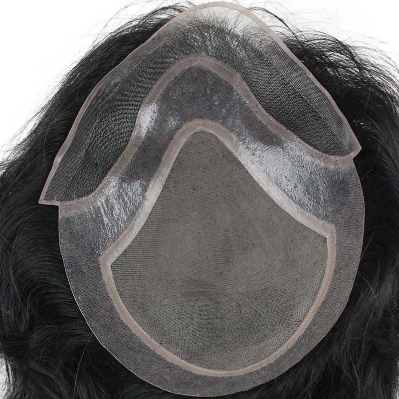 Eseewigs человеческие волосы накладка из искусственных волос для мужчин натуральный черный цвет прямые европейские волосы remy швейцарские кружева спереди парик кожи тонкий PU ручной работы