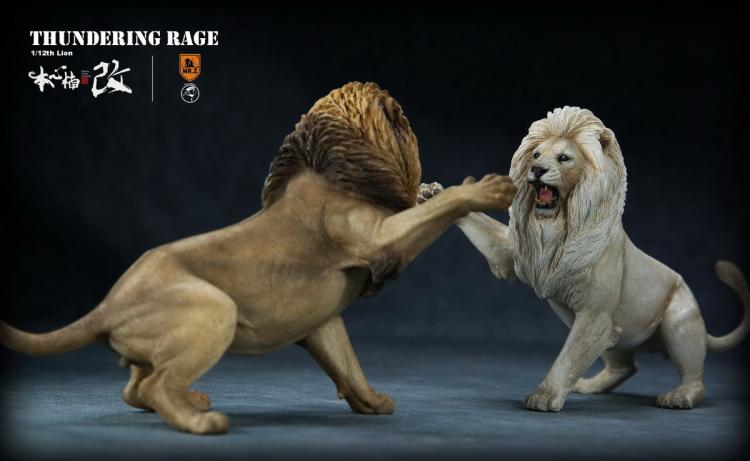 Collectible 1/12 Collectible Resin Anime Figure Mr.Z Animal Thunderfury African Lion VS Spotted Dog Set Toys Model for Fans Gift-in Action & Toy Figures from Toys & Hobbies    1